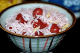 אורז בסמטי עם דובדבנים ושקדים