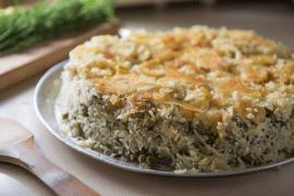 אורז ירוק עם תפוחי אדמה בסגנון פרסי