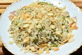 אורז פרסי עם עשבי תיבול ופול ירוק