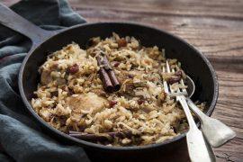 תבשיל מעושן של אורז ועוף