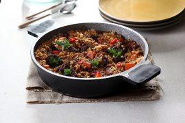 תבשיל שפונדרה של בשר ואורז