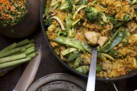מתכון לפאייה: תבשיל אורז ספרדי עם פרגיות וירקות