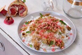 אורז חגיגי עם אגוזים ורימונים