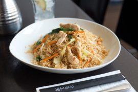 אורז עם עוף וירקות של מסעדת ג'ירף