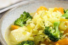 מרק אורז הודי סוגת וירקות עשיר ובריא לראש השנה