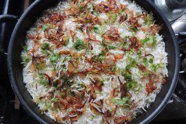 אורז בסמטי מתובל בסגנון איטלקי