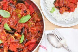 רטטוי - ירקות צלויים ברוטב עגבניות