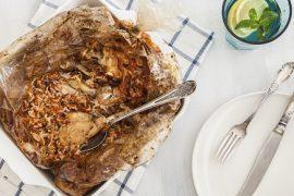ארוחה בשקית: עוף ואורז בתנור