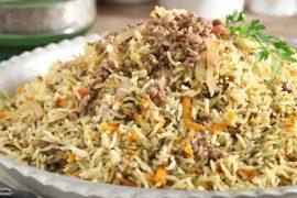 תבשיל מהיר של אורז ובשר