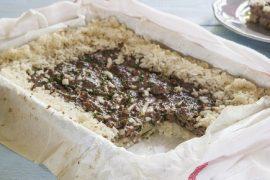 מאפה מהיר של אורז ובשר