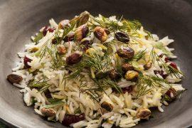אורז חגיגי עם פיסטוקים וחמוציות