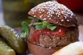 המבורגר אגוזים ופטריות