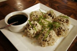 כדורי בשר בציפוי אורז לסושי