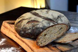 לחם כוסמין מלא עם בירה שחורה