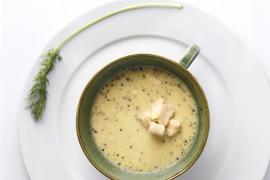 מרק סלמון מוקרם עם זעפרן