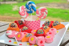 משלוח מנות צבעוני מבצק סוכר