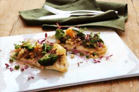 פילה לוקוס עם ירקות