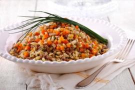 תבשיל חיטת קמוט עם בשר עגל וירקות