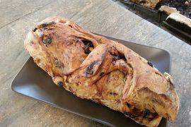 לחם זיתים ביתי שטוח