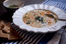 מרק שעועית וירקות עם לקט איטלקי