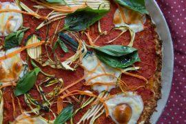 מאפה פיצה עם כרובית ללא גלוטן