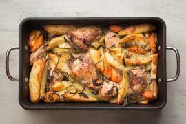 צלי עוף ותפוחי אדמה
