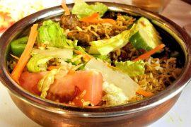 אורז בסמטי עם בשר כבש וירקות