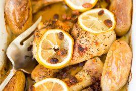 עוף בדבש ותפוזים לראש השנה