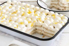עוגת ביסקוויטים עם קרם לימוני