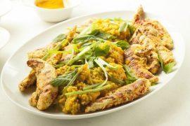 תבשיל עדשים ודלעת עם חזה עוף