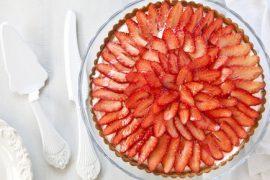 פאי תותים עם גבינת מסקרפונה