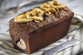 עוגת שוקולד ובננות