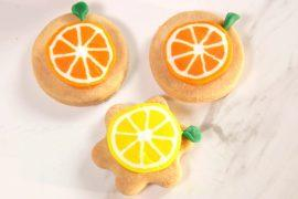 בצק סוכר: עוגיות מקושטות בפלחי תפוז