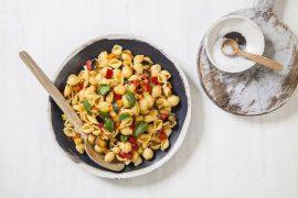 פסטה צדפים ברוטב ירקות קיצי