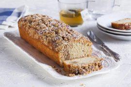 עוגה בחושה עם טחינה ופקאן