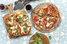 פיצה ביתית עם תוספות