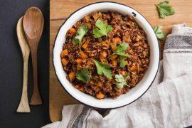 תבשיל אורז אדום וגזר