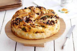 מאפה שמרים מלוח במילוי גבינה