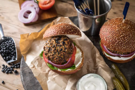 המבורגר שעועית שחורה