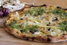 פיצה ביתית עם קרם ארטישוק ירושלמי