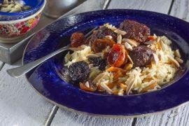 כדורי בשר בסגנון פרסי עם אורז גזר
