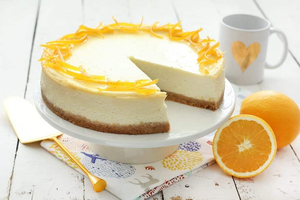 עוגת גבינה תפוזית