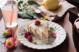 עוגת שיש של פטל ולימון