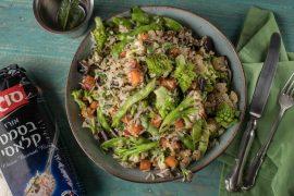 אורז עם ירקות ברוטב שום ולימון