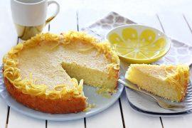 עוגת סולת לימונית ואוורירית