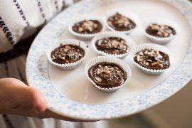 חטיף שוקולד וחמאת בוטנים עם בייגלה