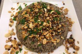 מנסף: עוגת אורז ובשר טחון בסגנון דרוזי