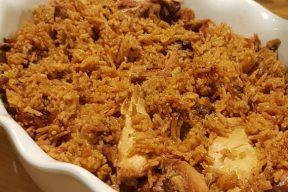 חמין עיראקי: טבית של אורז יסמין עם עוף