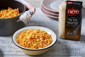 אורז, תפוחי אדמה ותירס בסיר אחד