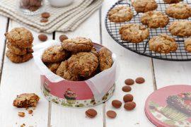עוגיות קפה, שוקולד צ'יפס ואגוזים